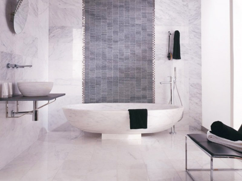 Tinas De Baño De Piedra:Baño realizado con mármol de Macael